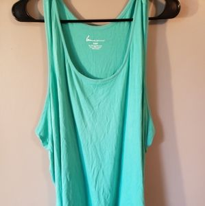 Lane Bryant mint green top with sheer bottom